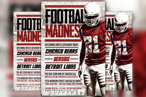 football madness flyer template flyer templates