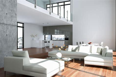 Loft Der Moderne Lebensstilloft Mit Zwei Wohnbereichen by Offene Wohnung Wohnk 252 Che Schlafzimmer Und Bad Ohne W 228 Nde