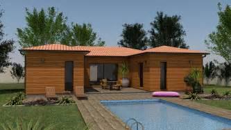 cuisine clairlande bois construction maison individuelle terrain maison en bois designe maison