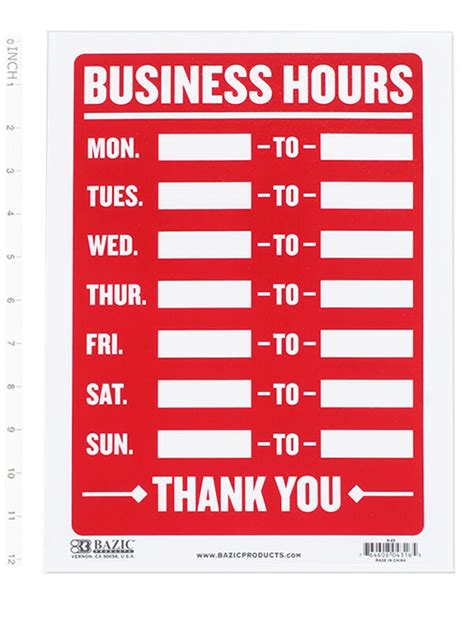 business hours sign open mon sun write    times