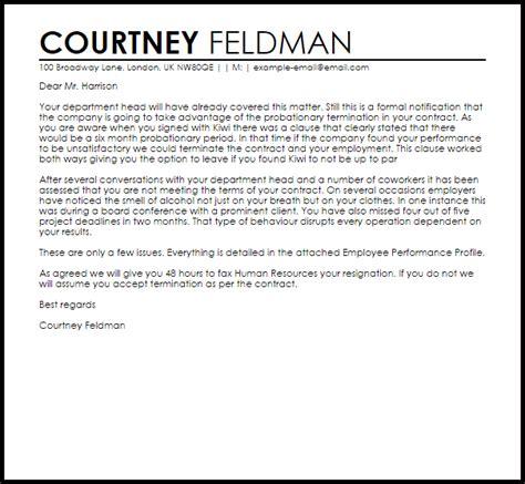 probation termination letter  letter samples
