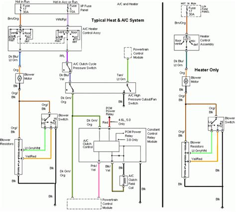 Mustang Air Conditioning Wiring Diagram