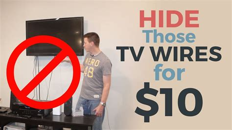 How to Hide Your TV Wires for $10   YouTube