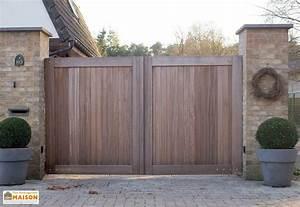 Portail En Bois : portail bois mon am nagement maison ~ Premium-room.com Idées de Décoration