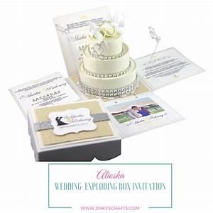 alioska exploding box wedding invitation with 3 tier cake With mix box wedding invitations