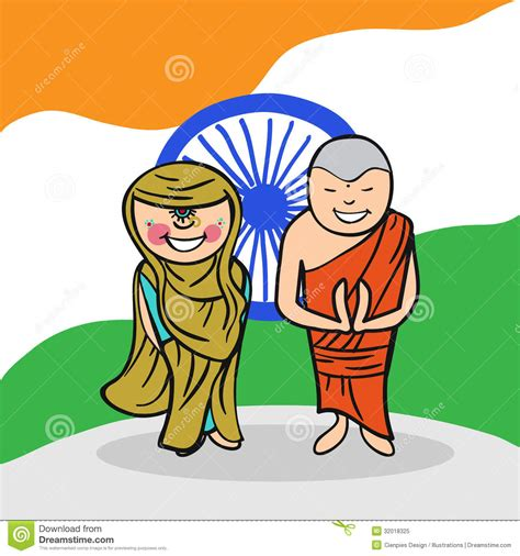 india people stock vector illustration