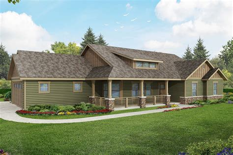 Contemporary 3-bed Country Ranch Home Plan