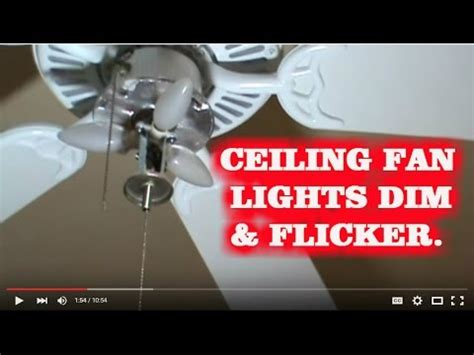 how to fix blinking ceiling fan lights kichler fan how
