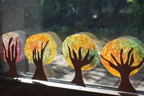 Herbst Fenster Basteln basteln mit kindern im herbst an unserem fenster
