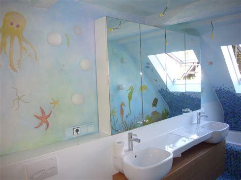 bad badezimmer gestaltung wandmalerei