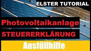 Photovoltaik Zum Selber Bauen : photovoltaik steuererkl rung elster tutorial ~ Lizthompson.info Haus und Dekorationen