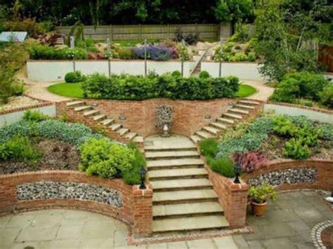 garden designs sloping sites