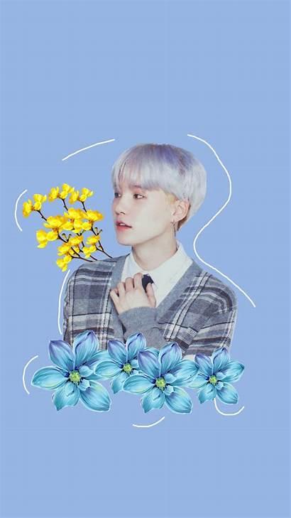 Bts Lockscreen Yellow Flowers Kpop Flower Picsart