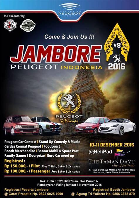 Pasuruan merupakan sebuah kota di provinisi jawa timur yang terletak di sebelah tenggara surabaya dan sebelah barat laut bali. Jambore Nasional Peugeot Indonesia 2016 - Jogja206Lovers   Happy and Brotherhood