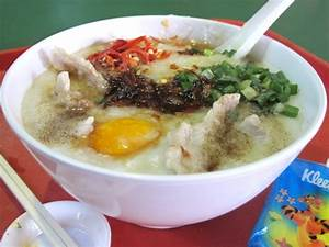 Hangover Helper  Sliced Pork Congee With Egg At Maxwell