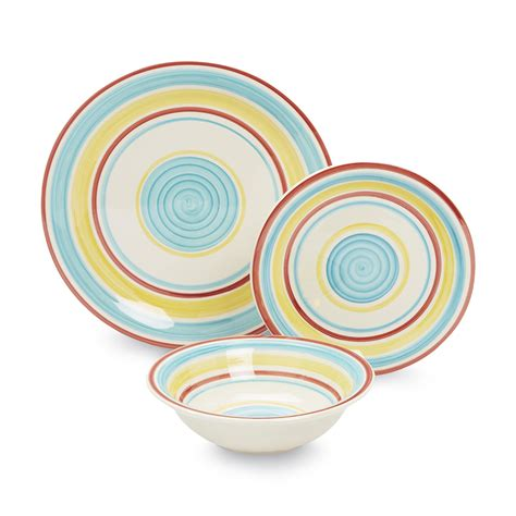 colorful dinnerware sets gibson 5 piece pasta bowl set multi color home dining entertaining tableware