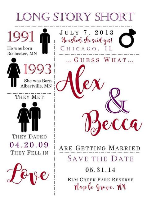 Cute Save the Date Save the date template Love Story