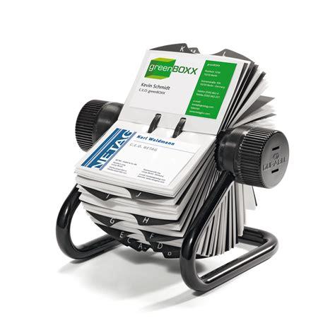 durable fichier rotatif visifix economy pour cartes de visite capacit 233 400 cartes coloris noir