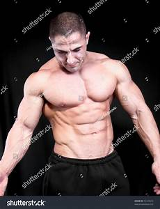 Athletic Sexy Attractive Male Body Builder Stock Photo 72145672