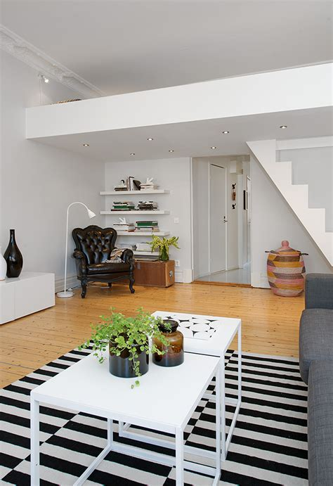 custom built small loft apartment  stockholm