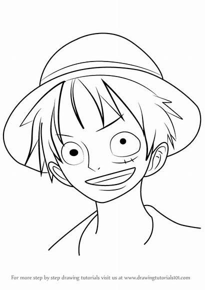 Luffy Piece Draw Monkey Step Drawing Tutorials