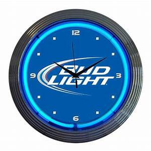 Neonetics 8budli bud light neon wall clock atg stores for Neon light wall clock