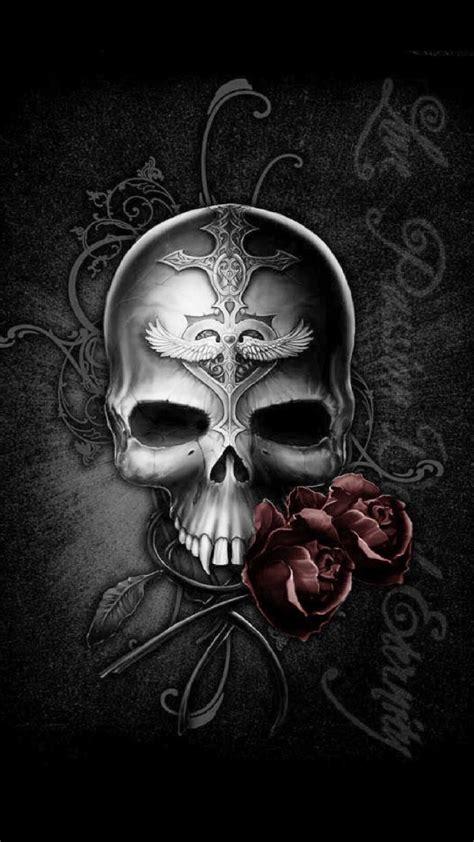iphone   wallpaper tapiz iphone skull skull art badass skulls