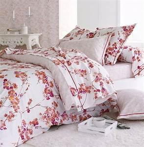Housse De Couette Fleurie : housse de couette blossom satin de coton motifs fleurs ~ Melissatoandfro.com Idées de Décoration