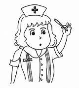 Nurse Coloring Helpers Printable Momjunction sketch template