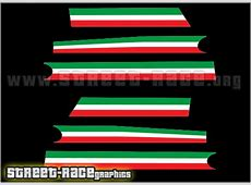 Fiat 500 racing stripes 032A Italian Flag stickers
