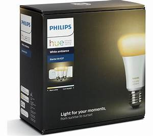 Hue Starter Kit : buy philips hue white ambience smart bulb starter kit e27 free delivery currys ~ Orissabook.com Haus und Dekorationen