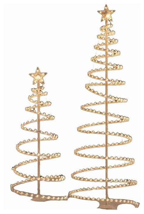 holiday living metal spiral christmas tree set