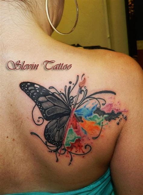 watercolor tattoo ideas  turn skin  canvas
