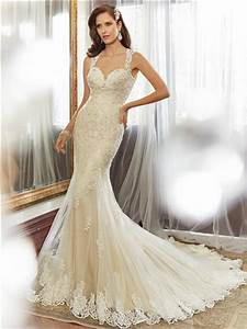 slim fitted mermaid sweetheart keyhole backless light gold With gold beaded wedding dress