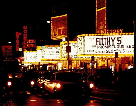 1970s Times Square New York City 42nd Street Movie Marquee