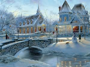 Winter Christmas Scenes Desktop
