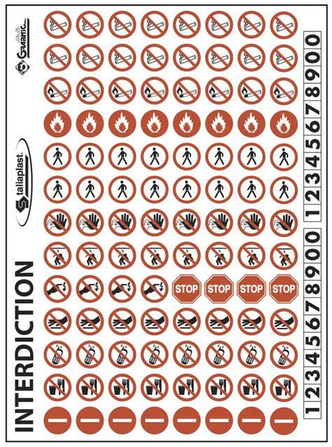 cuisine d entreprise planche signalisation pictogrammes interdiction