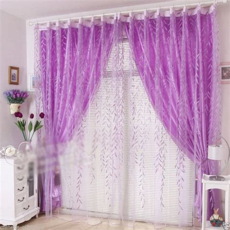 Light Purple Ruffle Curtains by Pin Purple Curtains With Light Spot On