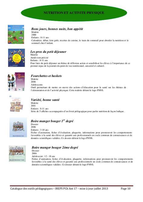 memo pour cuisine ireps17 catalogue outils pédagogiques antenne 17