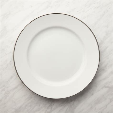 maison platinum rim dinner plate reviews crate  barrel