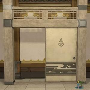 Oriental Partition FFXIV Housing - Furnishing