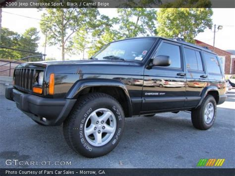 2000 jeep cherokee black black 2000 jeep cherokee sport camel beige interior