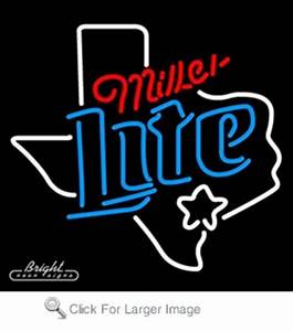 Miller Light Texas Neon Sign only $229 00 Signs M