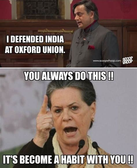 Sonia Meme - latest sonia gandhi and shashi tharoor funny memes and jokes to make you laugh hard funny
