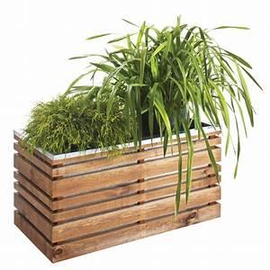 Bac A Fleur Balcon : bac fleurs bois trait lignz l100 h50 cm plantes et jardins ~ Teatrodelosmanantiales.com Idées de Décoration