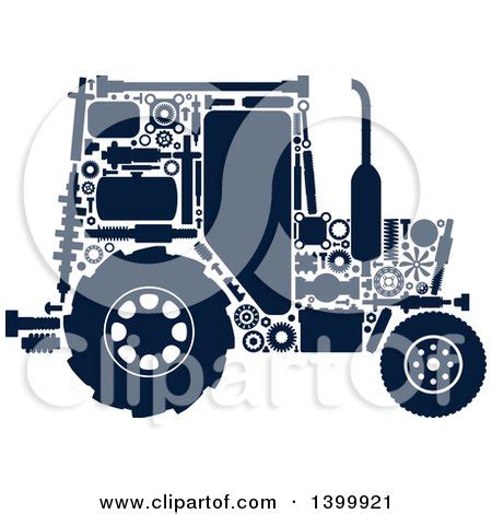 clipart   silhouetted tractor  visible mechanical