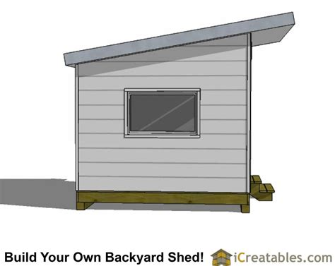 10 X 20 Modern Shed Plans by 10x10 Studio Shed Plans 10x10 Office Shed Plans Modern