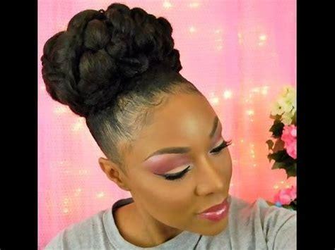 Updo   Natural Black Hair   Part 2
