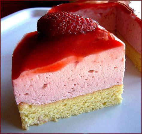 bavarois aux fraises la petite patisserie diza
