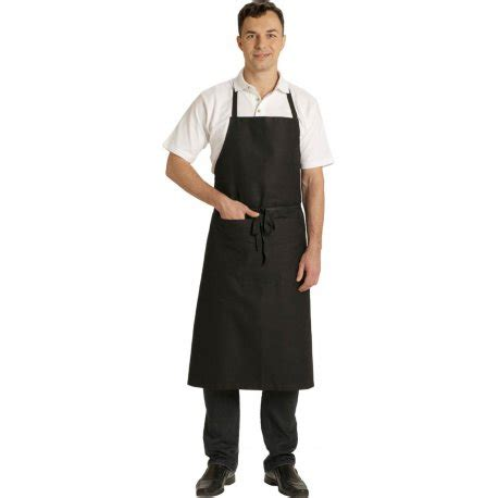 tablier cuisine noir tablier à bavette noir